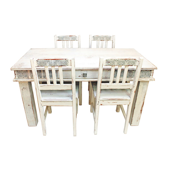 Olden table with chairs - oak tree