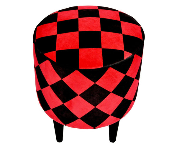 Stool ARTEDECO 40 RED/BLACK EN