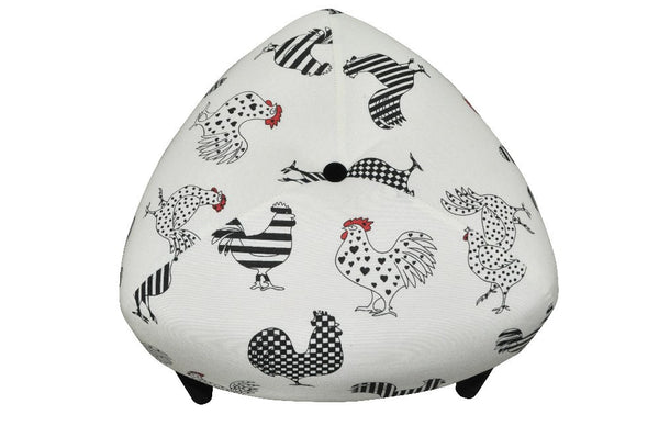 Stool ODO HAHN/WHITE/BLACK EN