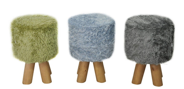Stool KIVI FUR /GRAY EN