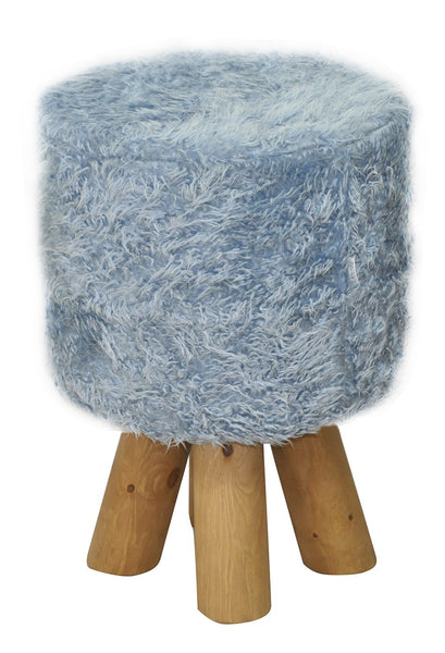 Stool KIVI FUR/ BLUE EN