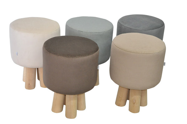 Stool KIVI 3/BLACK/WHITE EN