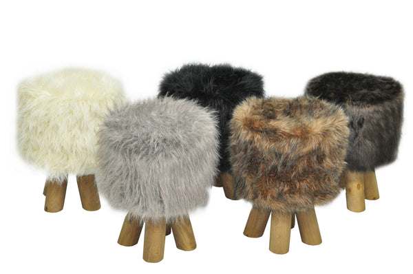 Stool SCANDI FUR/GINGER EN