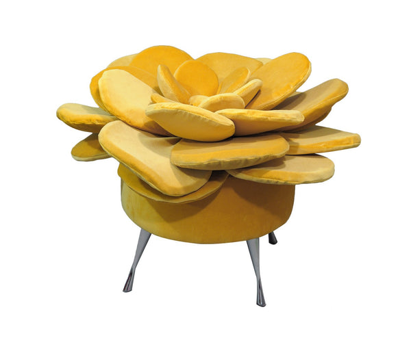 Pouf SUMMER FLOWER/YELLOW EN