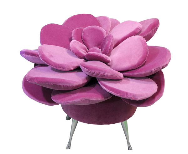 Pouf SUMMER FLOWER/AMARANTH EN