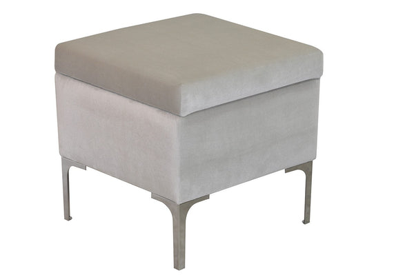 POUF LUXE 45 opened/CREAM EN