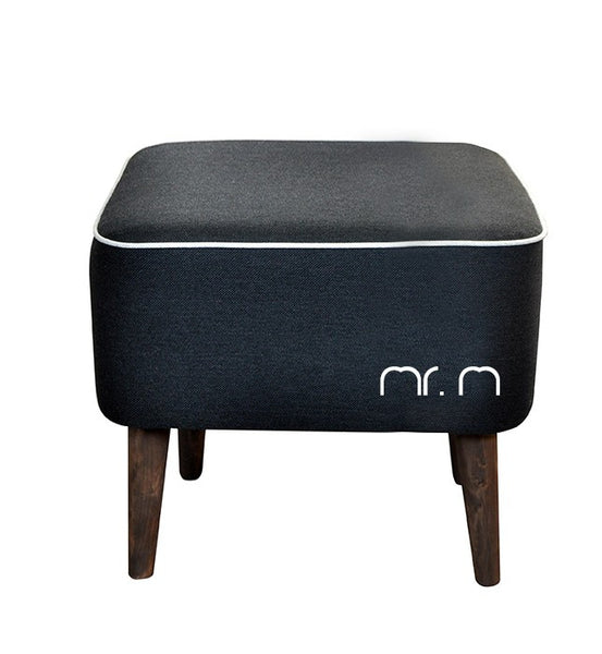 Pouf Mr.M CREAM/BLACK  EN