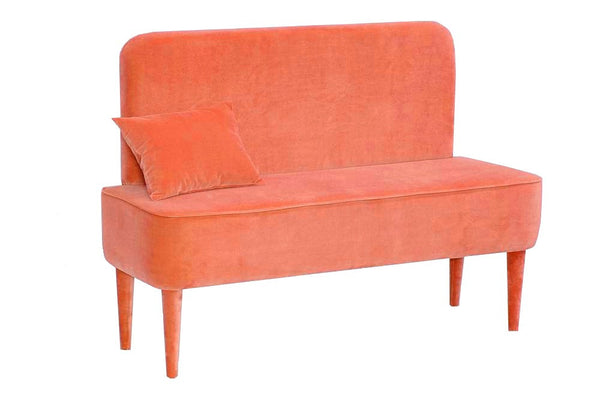 Bench PASTEL  ORANGE with backrest EN