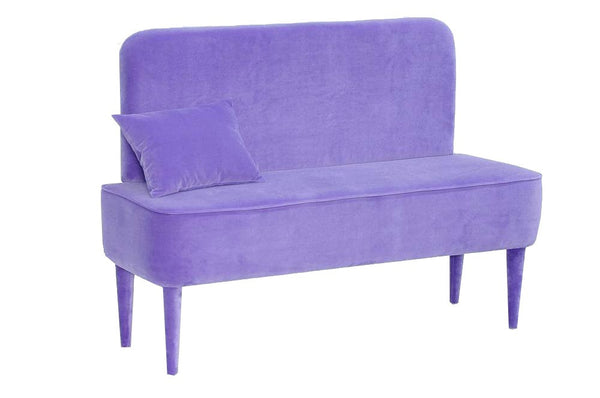 Bench PASTEL  VIOLET  with backrest EN