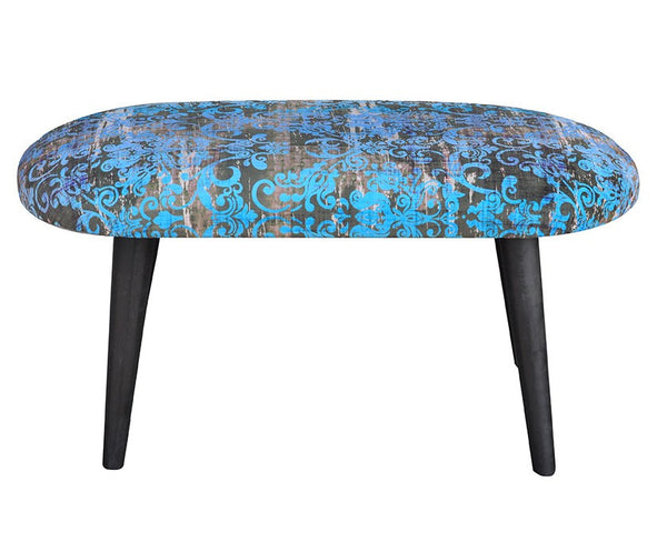 Bench Old Ornament/ turquoise EN
