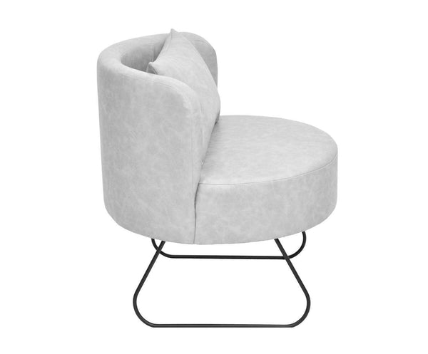 Armchair LEVER  eco leather /GRAY EN
