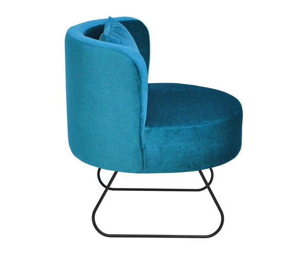 Armchair  LEVER velor / BLUE EN
