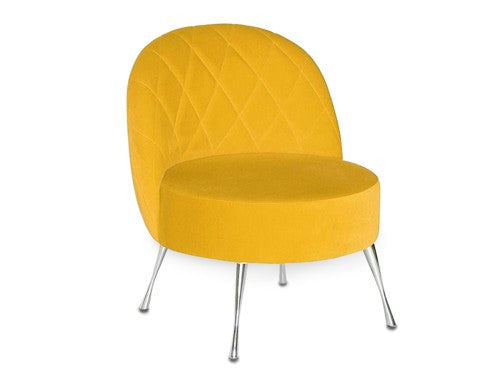 Armchair KARO metal leg  / YELLOW EN