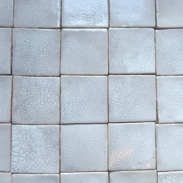 "Square-shaped ceramic tiles - ""cracked fog"""