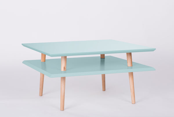 Cabinet SQUARE low 68 cm bright turquoise