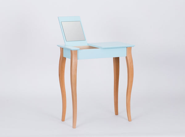 Console table LILLO with mirror little 65 cm bright turquoise