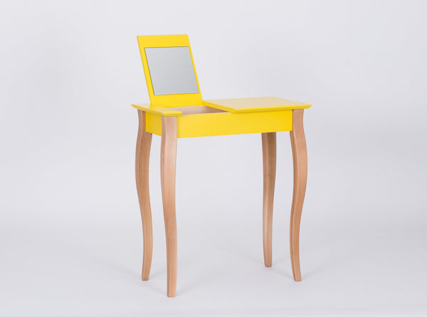 Console tabke LILLO with mirror little 65 cm yellow