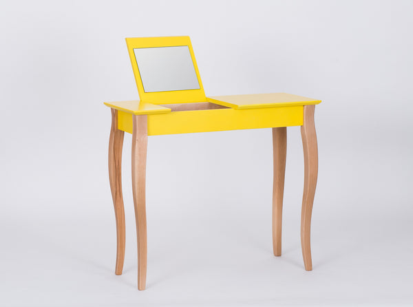 Console table LILLO with mirror middle 85 cm yellow