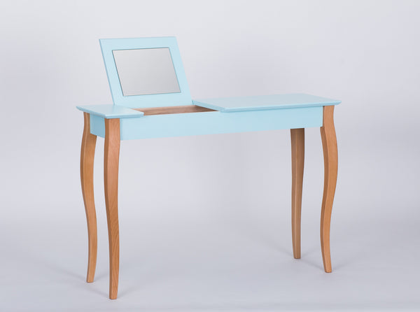 Console table LILLO with mirror big 105 cm bright turquoise