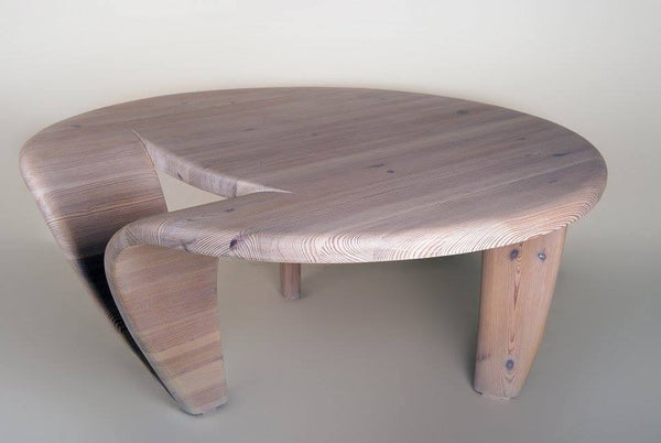 Coffee table made of solid wood- 4