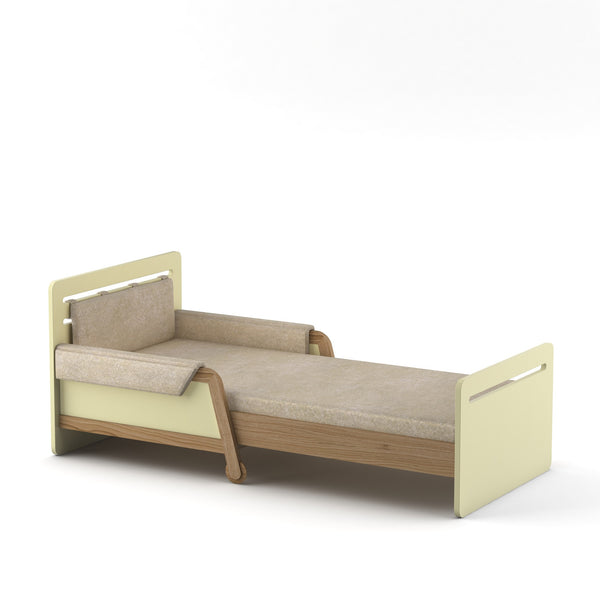 SIMPLE EXTENDABLE BED ORANGE/CREAM