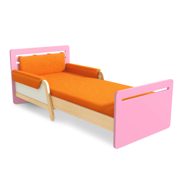 SIMPLE EXTENDABLE BED PINK/CREAM