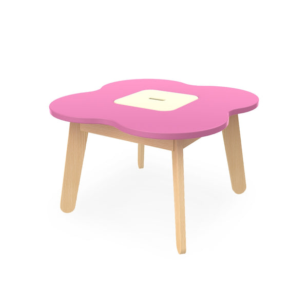 "SIMPLE TABLE ""PLAY"" PINK/CREAM"