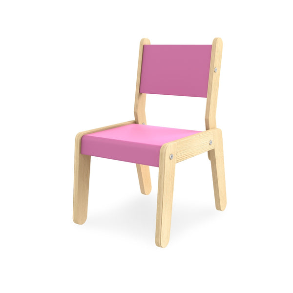 SIMPLE SMALL CHAIR PINK/CREAM
