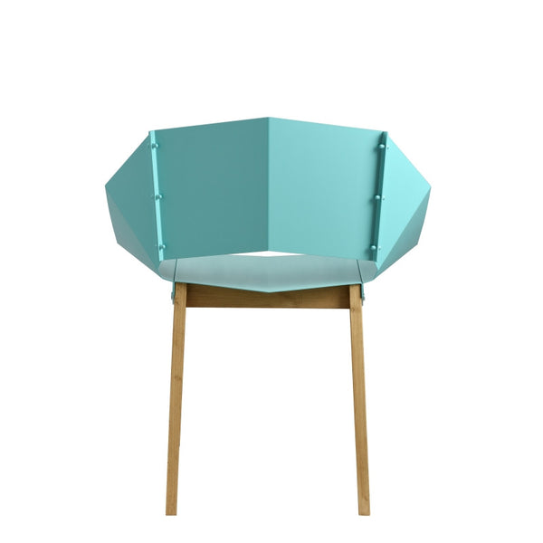 steel chair soft turquoise