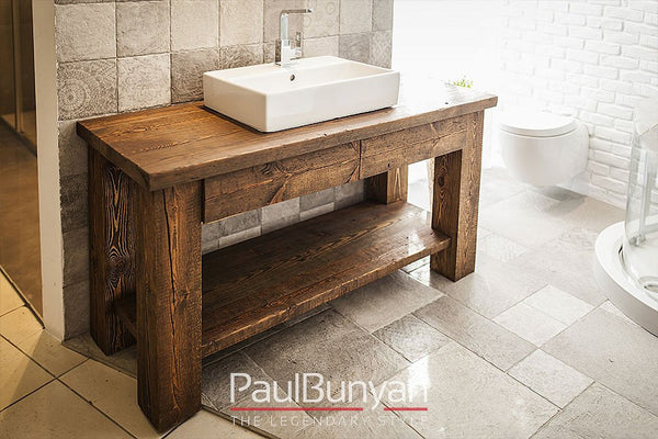 Washbasin cabinet made of old wood - model TS2