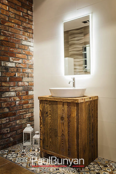 Washbasin cabinet made of old wood - model TS1