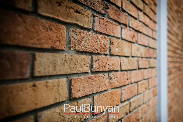 Wall tiles made of old bricks - formerly German