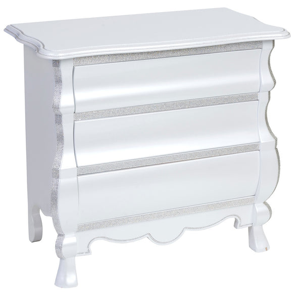 Chest with 3 drawers white PE223