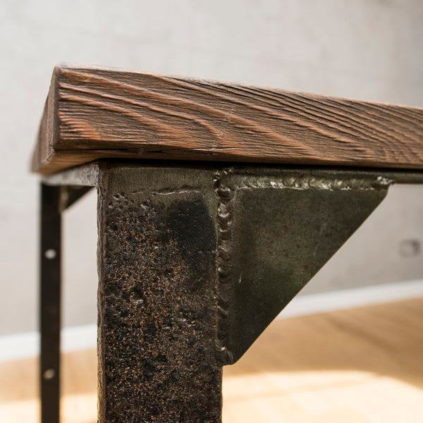 Table made of old wood and metal. No. RE 235