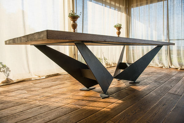 Oakwood table made of old wood and metal.No. RE 232