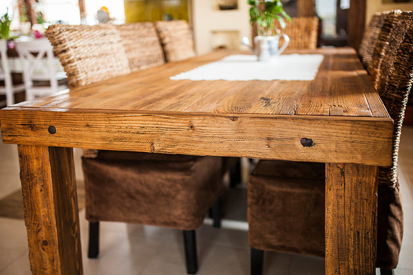 Wooden table made of old wood . No.RE 237