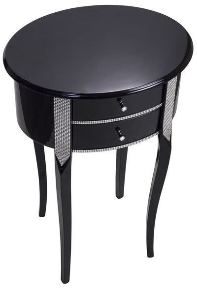 Oval console black, white PE2210