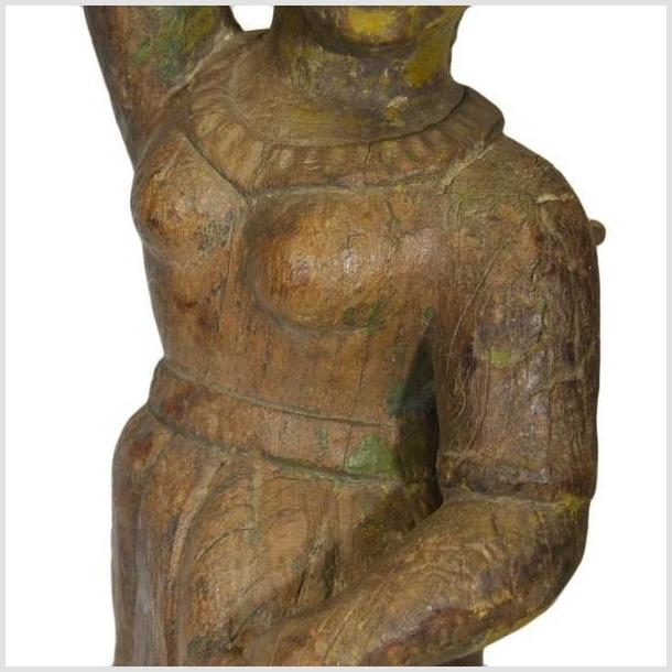 Antique Asian Hand Carved Statue