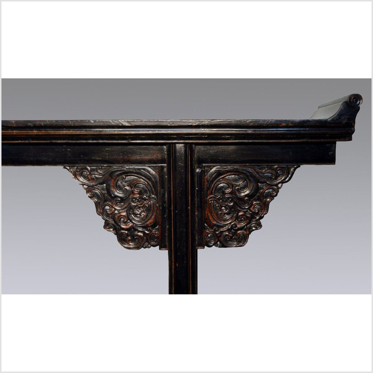 Dark Carved Altar Table