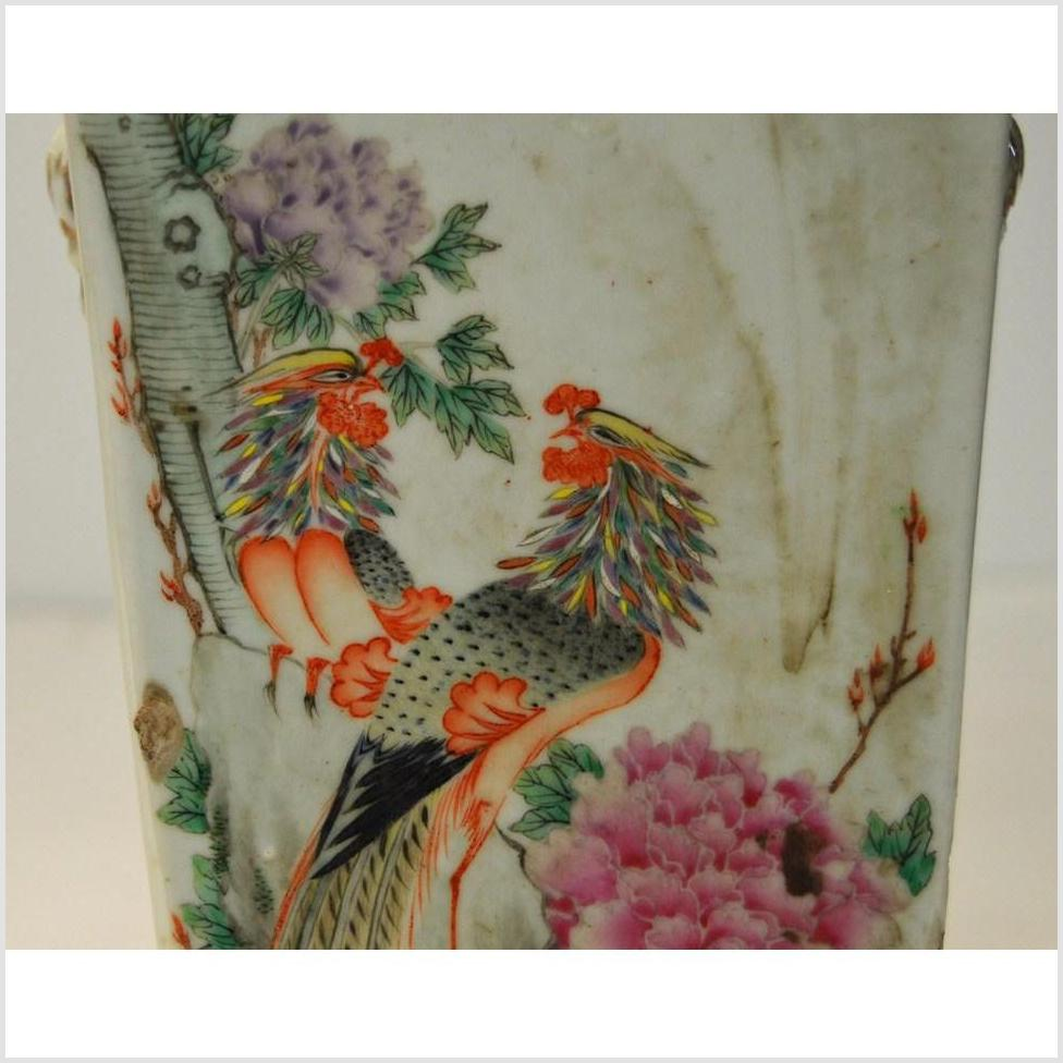 Antique Chiang Dynasty Chinese Hand Painted Altar Vase