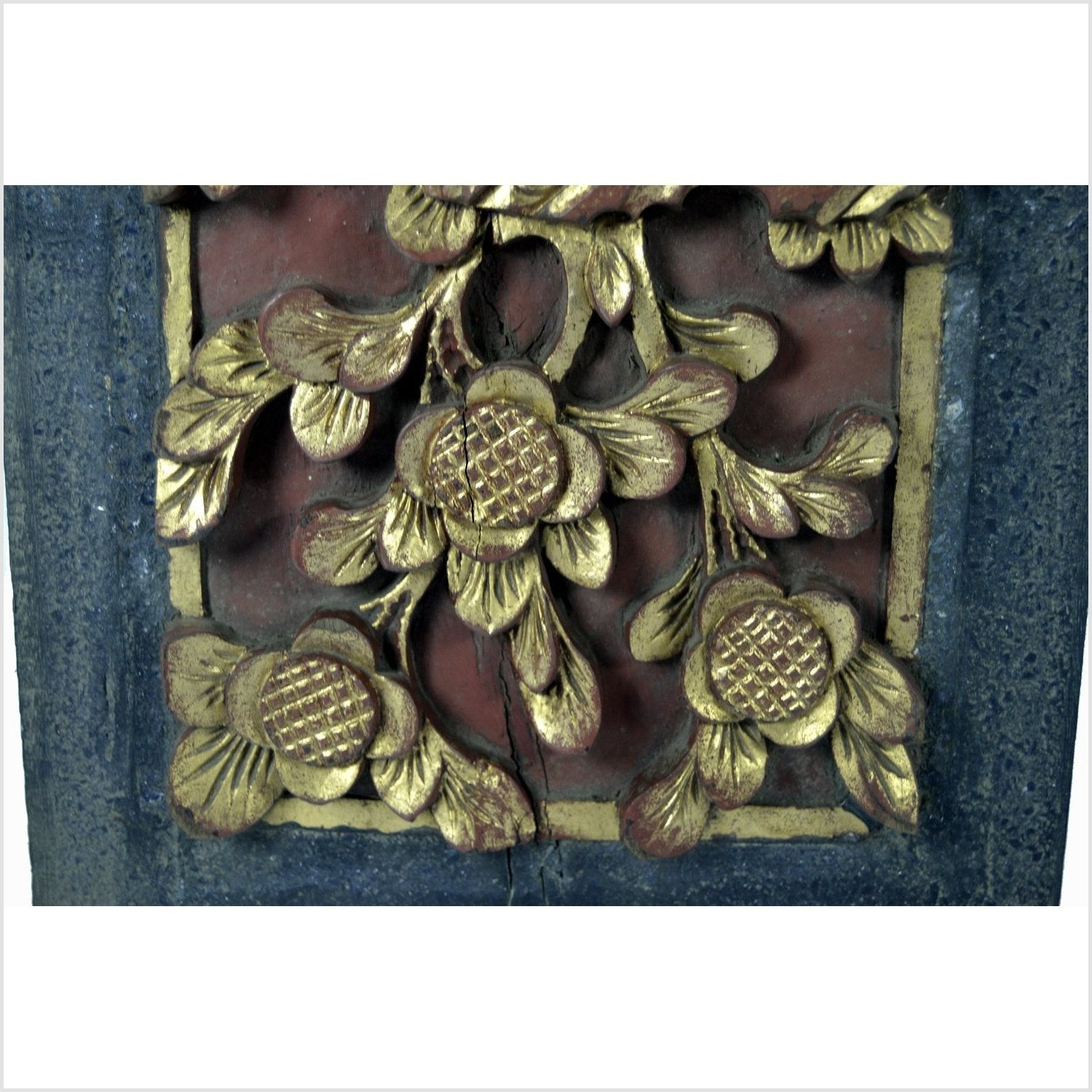 Antique Chinese Architectural  Wedding Bed Plaque