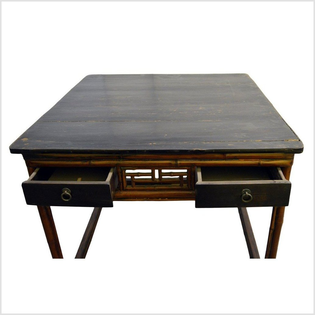 Antique Chinese Black Lacquer Table