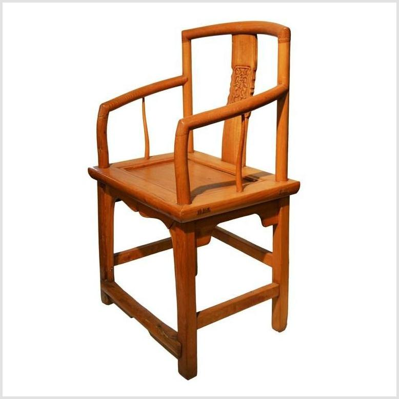 Antique Chinese Elm Wood Chair
