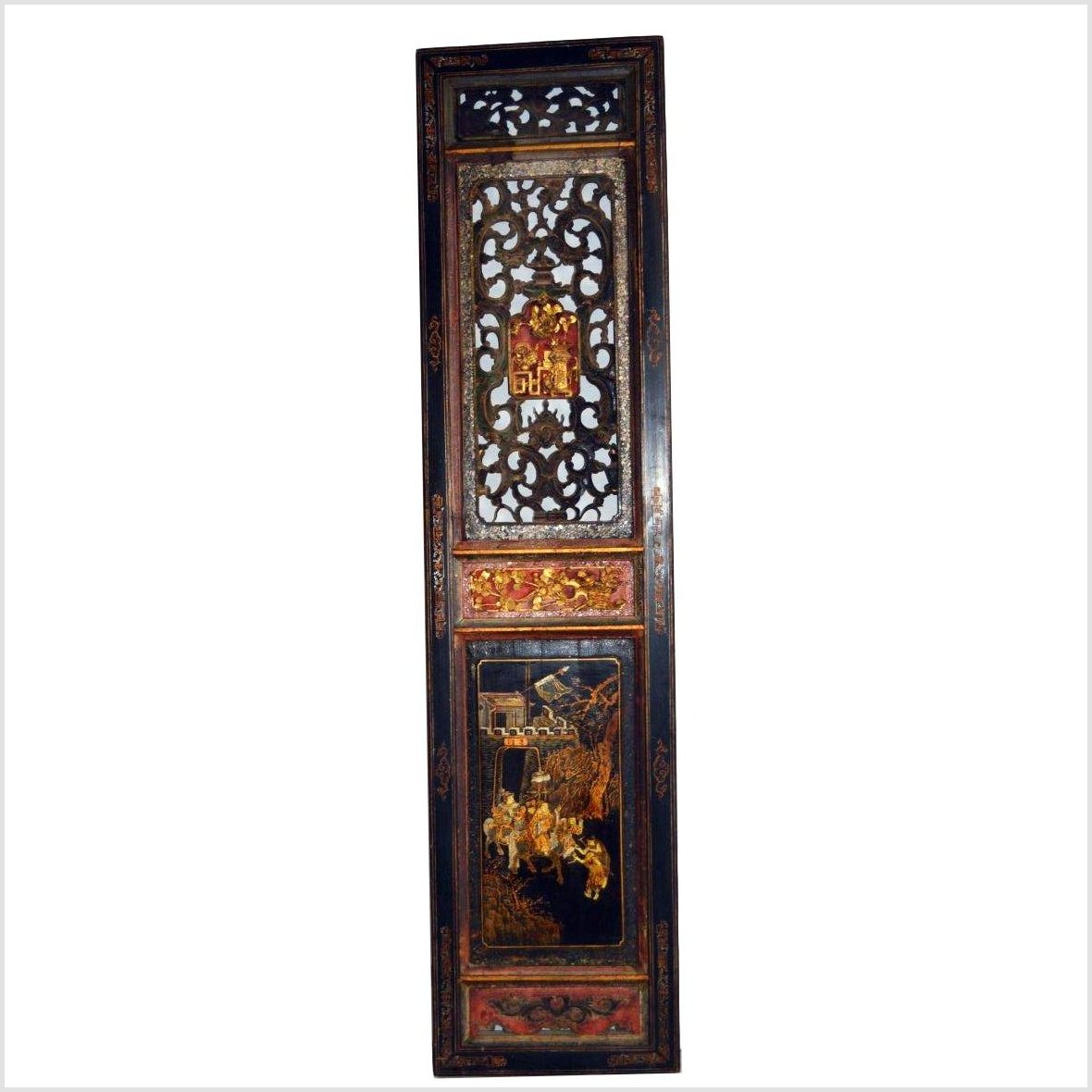 ANTIQUE CHINESE HAND CARVED WALL ORNAMENT