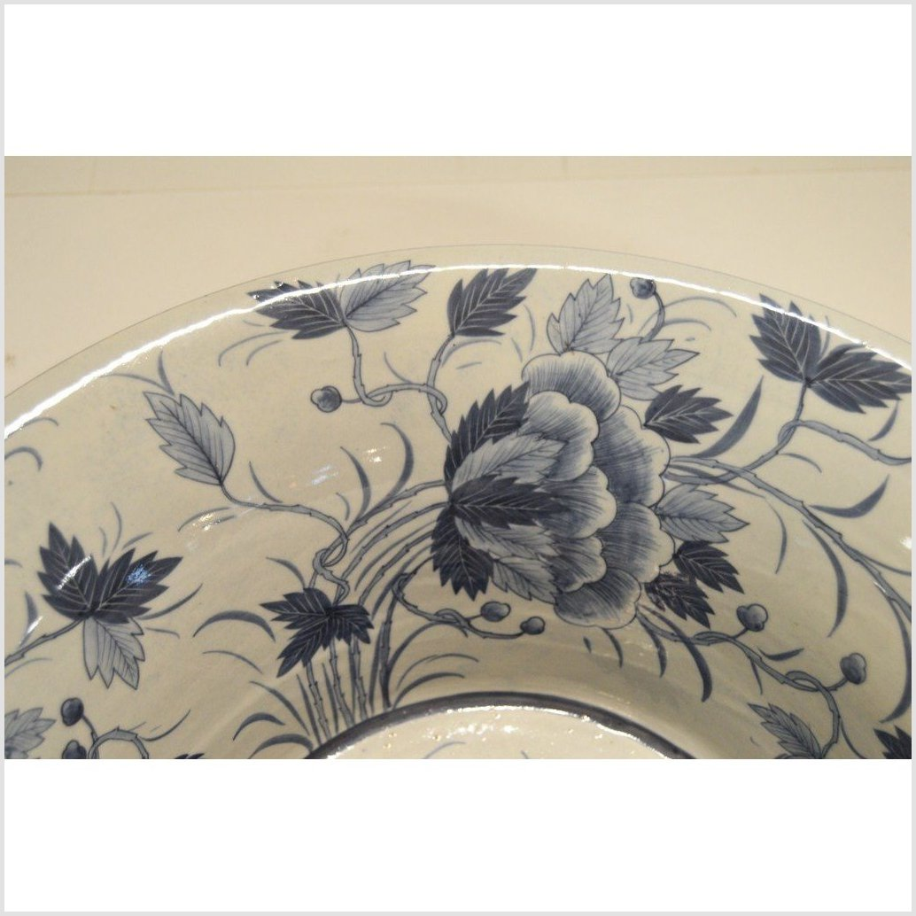 Antique Chinese Hand Painted Porcelain Wash Basin