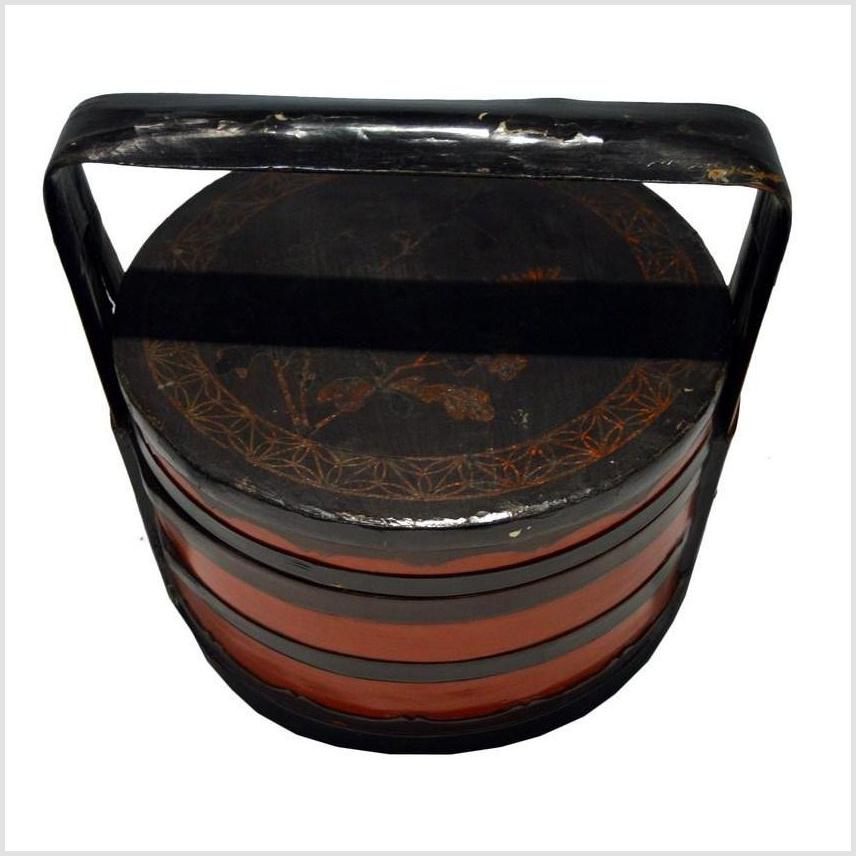 Antique Chinese Lacquered Food Basket