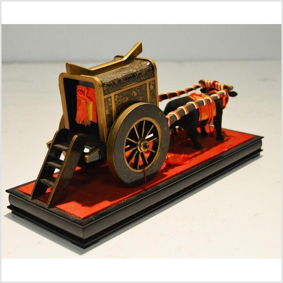 Antique Chinese Miniature Ceremonial Oxen Cart