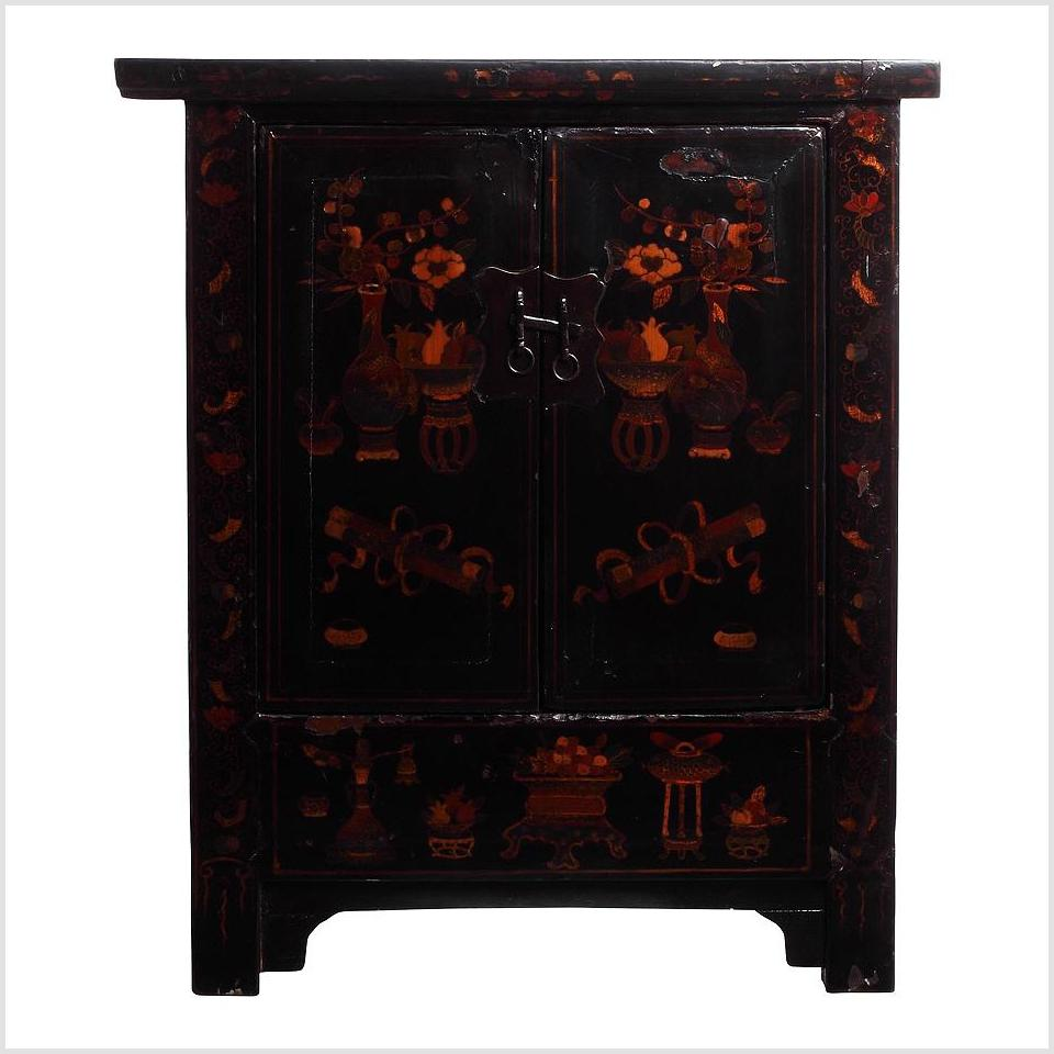 Antique Chinese Nightstands, Pair