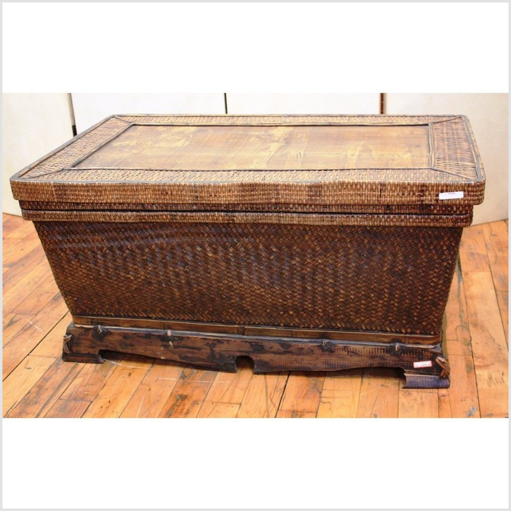 Rattan Covered Chest
