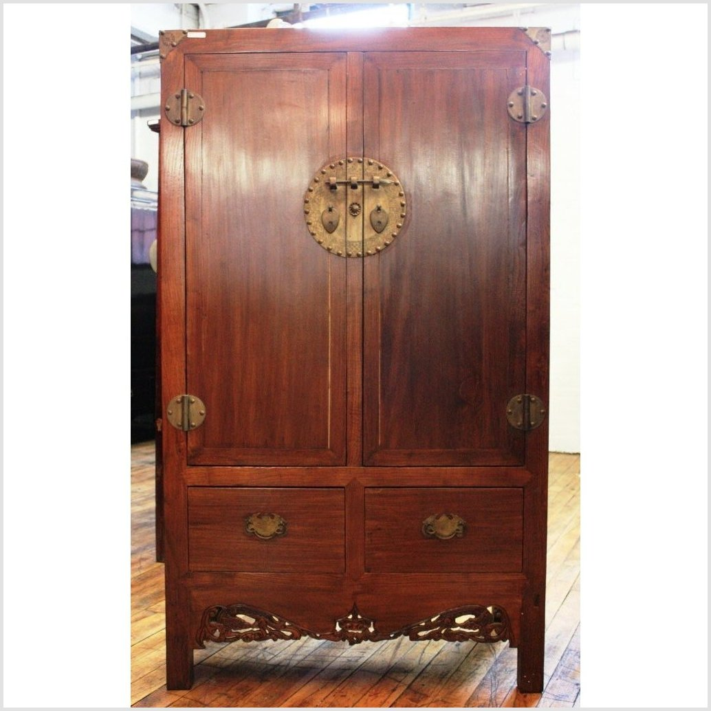Antique Elmwood Cabinet
